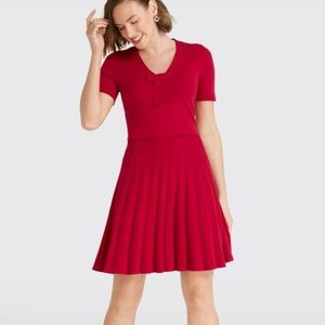 NWT Draper James Bow Knit Dress Red XL